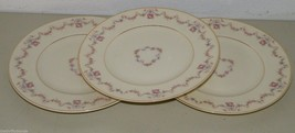 3 Syracuse China Old Ivory Arcadia Pink Floral Luncheon Dinner Plate 15946 - $38.91