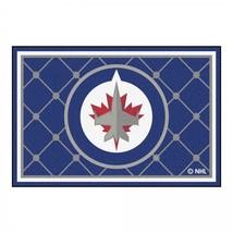 NHL Winnipeg Jets Area Rug 5 x 8 Feet Man Cave Hockey Sports Decor Non-Skid - $222.16