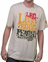 LRG L-R-G Natural Heather Reggae Muffin Lion Rock Peace T-Shirt Medium NWT