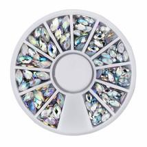 Gam-Belle® Crystal AB Nail Art Rhinestone Decoration 1 Wheel Mixed Size ... - $2.47