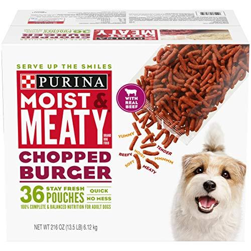 Primary image for Purina Moist & Meaty Wet Dog Food, Chopped Burger - 36 ct. Pouch