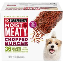 Purina Moist & Meaty Wet Dog Food, Chopped Burger - 36 ct. Pouch - $20.86
