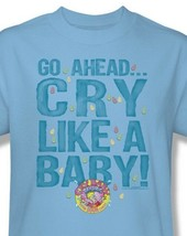 Cry Baby T-shirt Free Shipping distressed vintage style blue cotton tee DBL152 image 1