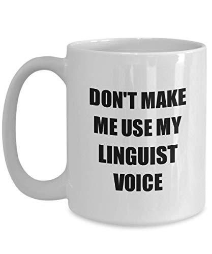 Primary image for Linguist Mug Coworker Gift Idea Funny Gag for Job Coffee Tea Cup 15 oz