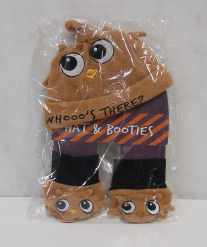 Grasslands Road 468439 Bootiful Baby Whooos There Hat Booties Trick Treat