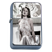 Brooklyn Pin Up Girls D2 Flip Top Oil Lighter Wind Resistant With Case - $12.82