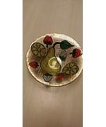 Vintage Mid-Century Art Glass Higgins Fruit Small Bowl - $55.80