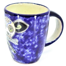 Hand Painted Contreras Talavera Day of the Dead Puppy Dog Coffee Tea Cup Mug image 2