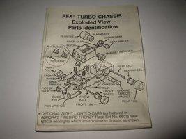 1989 Aurora Devil's Ditch Slot Car Playset piece: Instruction Sheet - $4.00