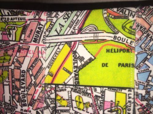ANTHROPOLOGIE MAEVE CARTE NEOPRENE SKIRT STREET MAP OF PARIS SIZE 2P