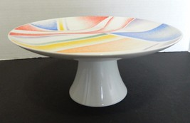 Toscany Collection Designed by Jack Prince Japan Cake Stand Colorful Geo... - $16.77