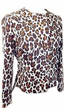 Stella McCartney Jacket Leopard Print Single Breasted Cropped Medium UK 10  - $203.05