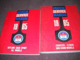 1965 Buick Gran Sport Negozio Riparazione Servizio Manuale Set W Integra... - $79.19