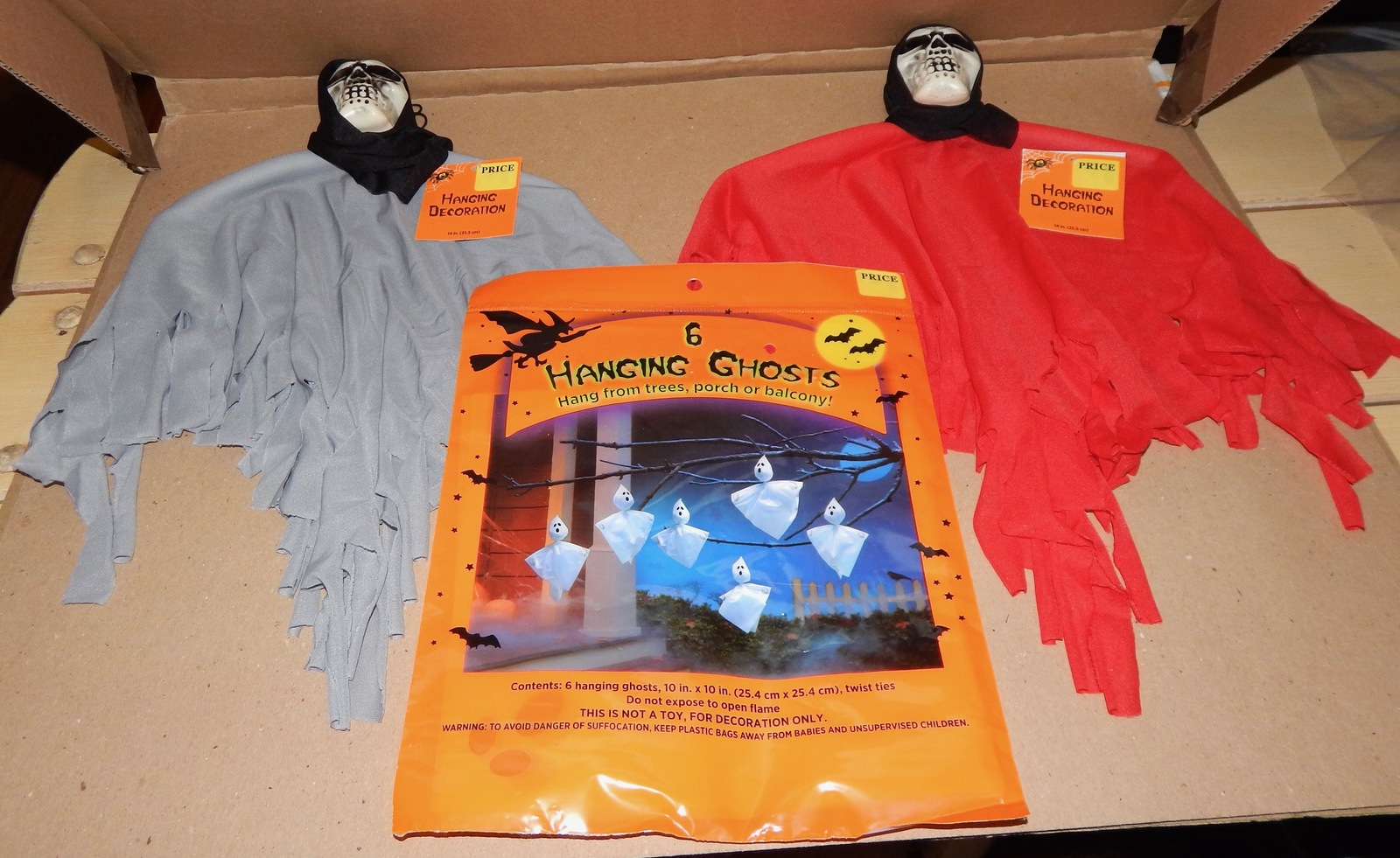 Halloween 6 Hanging Ghosts & Decoration and 50 similar items
