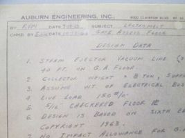 Vtg 1960s Auburn Engineering Project Notes Notebook Vernon Royal Line Binder image 3