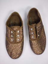 MIA CAMMIE Slip-on Rubber Soles Brown Gold Glitter KOOL KICKS Shoes Size... - $12.16