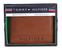 Tommy Hilfiger Men's Leather RFID Fixed Passcase Wallet Billfold 31TL220084 image 2