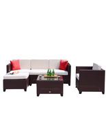 6 PC Rattan Wicker Furniture Sectional Set Outdoor Patio Garden Sofa Coc... - $529.99
