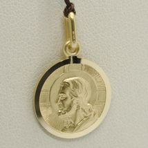 SOLID 18K YELLOW GOLD JESUS CHRIST REDEEMER 15 MM MEDAL, PENDANT, MADE IN ITALY image 3