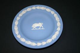 """WEDGWOOD Blue Jasperware Taurus Bull 4.5"""" Round... - $24.25"""