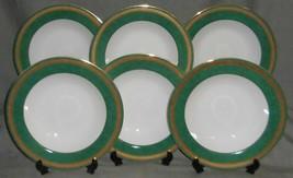 Set (6) PTS International Interiors MADISON EMERALD PATTERN Soup Bowls - $39.59