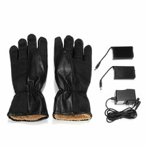 Men Winter Electric Heated Gloves Leather Women Rechargeable Battery Mit... - $1.247,14 MXN