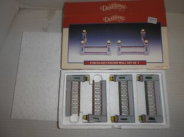 Lemax Dickensvale Collectibles Porcelain Column Wall set of 4 inside New 1993 - $12.16
