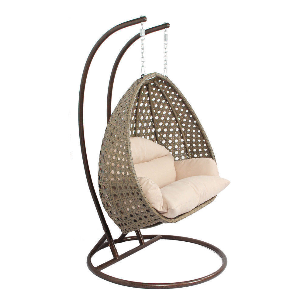 Heavy Duty Hanging Stand Outdoor Wicker Swing Chair Porch