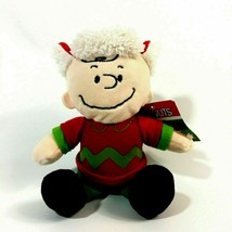 Peanuts Wish You A Merry Christmas Charlie Brown Musical Plush Stuffed A... - $14.99