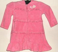 GIRLS PINK FLOWER ZIPPER TERRY CLOTH DRESS SIZE 6 - 12 MOS. GYMBOREE - $3.00