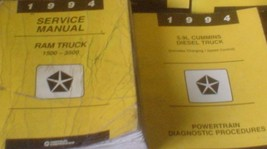 1994 Dodge Ram Truck DIESEL 1500 2500 3500 Service Shop Repair Manual SET W XTRA - $188.19