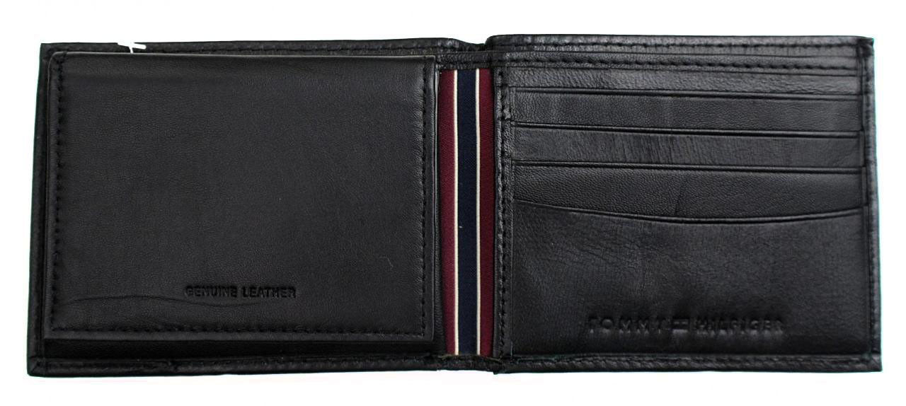 New Tommy Hilfiger Men's Leather Credit Card ID Passcase Wallet Black 31TL22X060 image 7