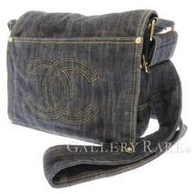 CHANEL Shoulder Bag Denim Canvas Blue Messenger Bag A31987 Italy - $1,474.00