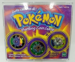 Pokemon Battling Coin Game Hasbro 1999 Includes Grimer Pinair and Magneton - $14.99