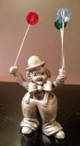 "Pewter ""CLOWN WITH BALLOONS"" Figurine 1987  SPOONTIQUE C/M469 Vintage - $8.85"
