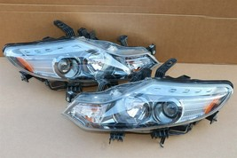 09-14 Nissan Murano Halogen Headlight Head lights Lamps Set L&R MINT image 2