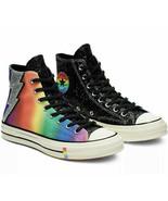 Converse Chuck 70 Hi Pride Glitter 165713C Black/Egret Sz Men's 3.5 Wome... - $97.02