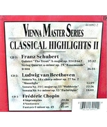 Vienna Master Series Classical Highlights II - $54.99