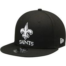 New Orleans Saints New Era 9Fifty Black White Adjustable Snapback Hat NFL - $31.67