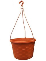 "Southern Patio 12"" Weave Hanging Basket, Terra Cotta - $20.33"