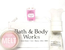 Bath and Body Works Champagne Toast Wax Melt, Pink label Wallflower & Wh... - $20.79