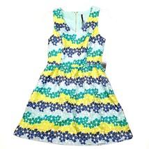 Kensie Womens  Sleeveless Floral Print Fit & Flare Dress  Sea Foam Combo Medium - $89.19