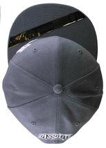 Dissizit Smoke Bowls Skateboard D Bones Ramp Grey Snapback Baseball Hat NWT image 6