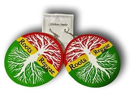 Keleafrica Afrocentric Roots Reggae Wooden Earrings - $14.84