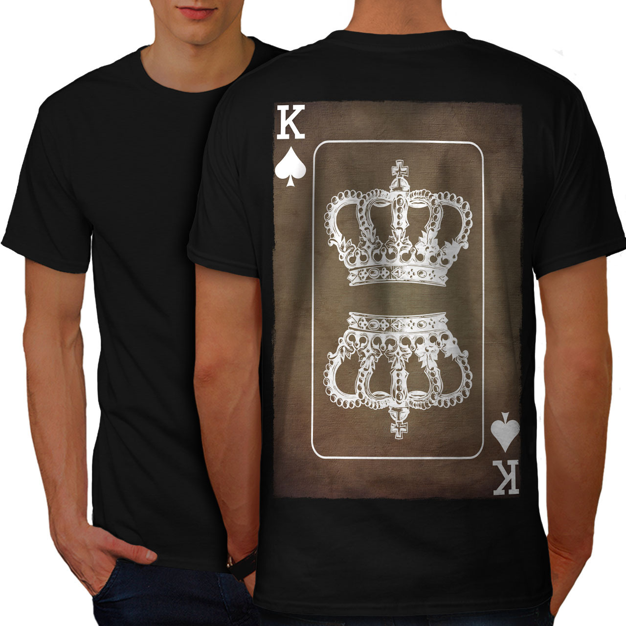 Primary image for Royal Crown Game Shirt King Card Men T-shirt Back