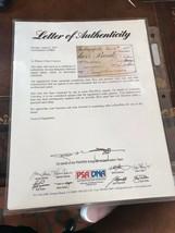 PRESIDENT BENJAMIN HARRISON SIGNED CHECK DATED 12/6/87- PSA/DNA - $465.50