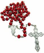 Rose Scented, Carved Wood Rose Petal Rosary - $5.84