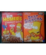 2001 Bart Simpson Peanut Butter Chocolate Cereal + Home Cinnamon Donuts ... - $21.99