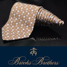 Brooks Brothers Country Club Martini Olive Luxury Dapper Night Out Tie - $53.36