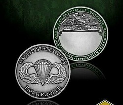 "Army Paratrooper Badge 1.75"" Challenge Coin - $18.04"